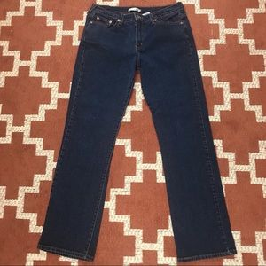 Levis 505 10M straight leg dark wash jeans